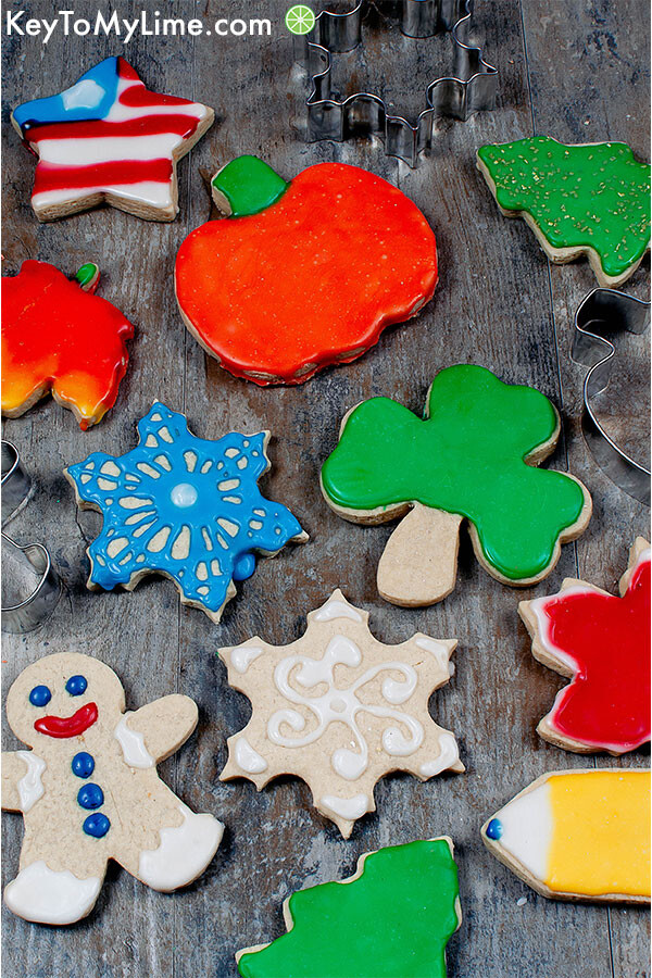 Decorated sugar cookies.