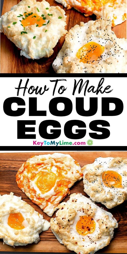 Two images of cloud eggs.