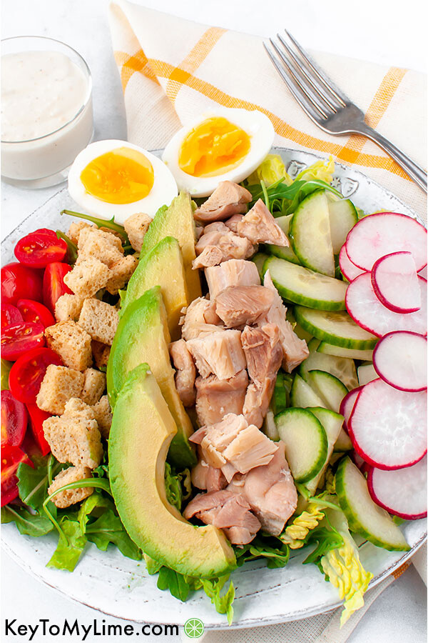 Chicken caesear cobb salad.