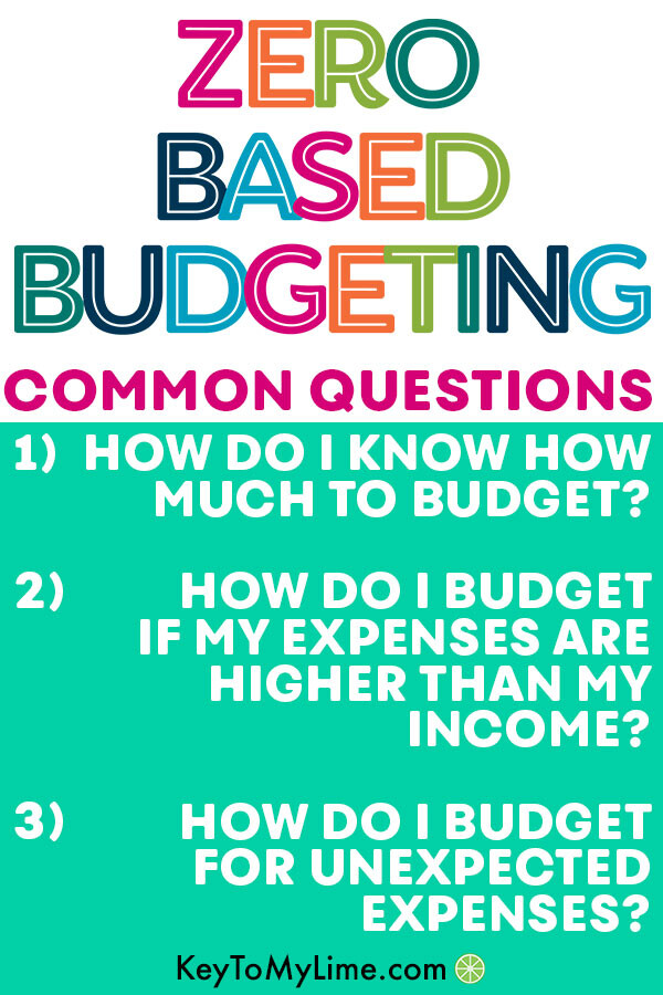An infographic showing the common questions about a zero based budgeting system.