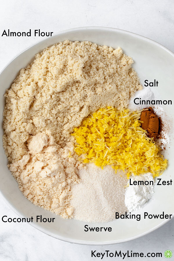 An image of the dry ingredients in individual containers labeled.