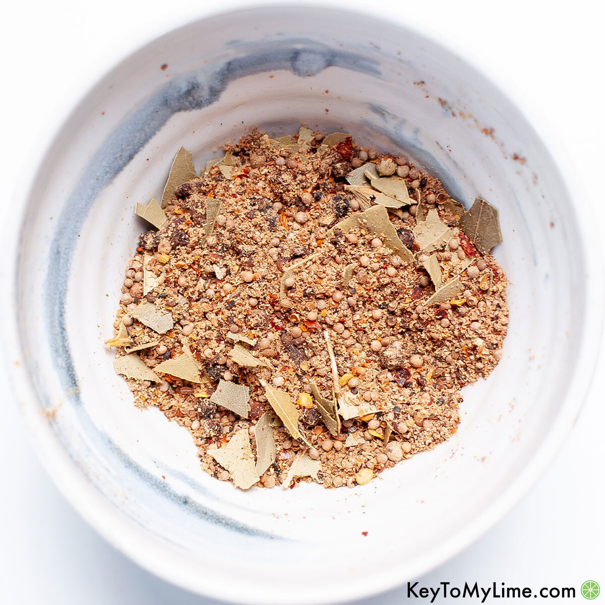DIY homemade corned beef spice packet blend in a bowl.