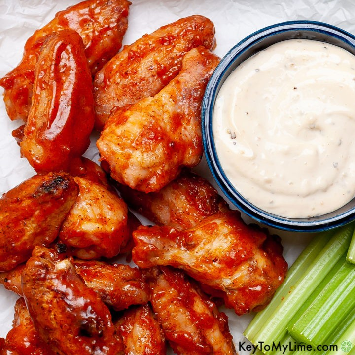 The best grilled sticky chicken wings recipe.