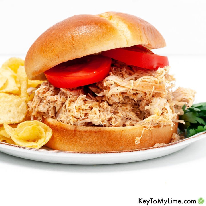 The best Instant Pot pulled chicken recipe.