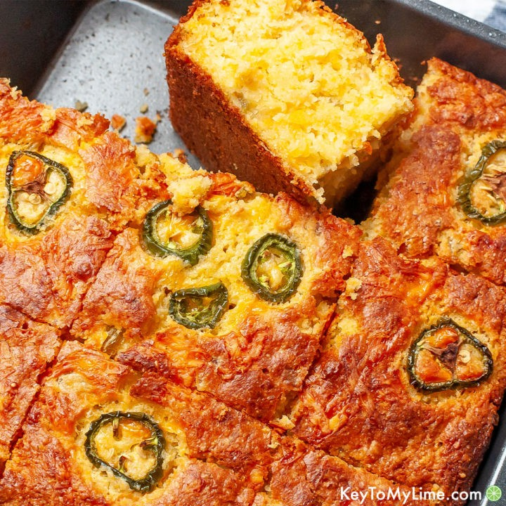 The best Mexican cornbread recipe made with Jiffy Corn Muffin Mix.