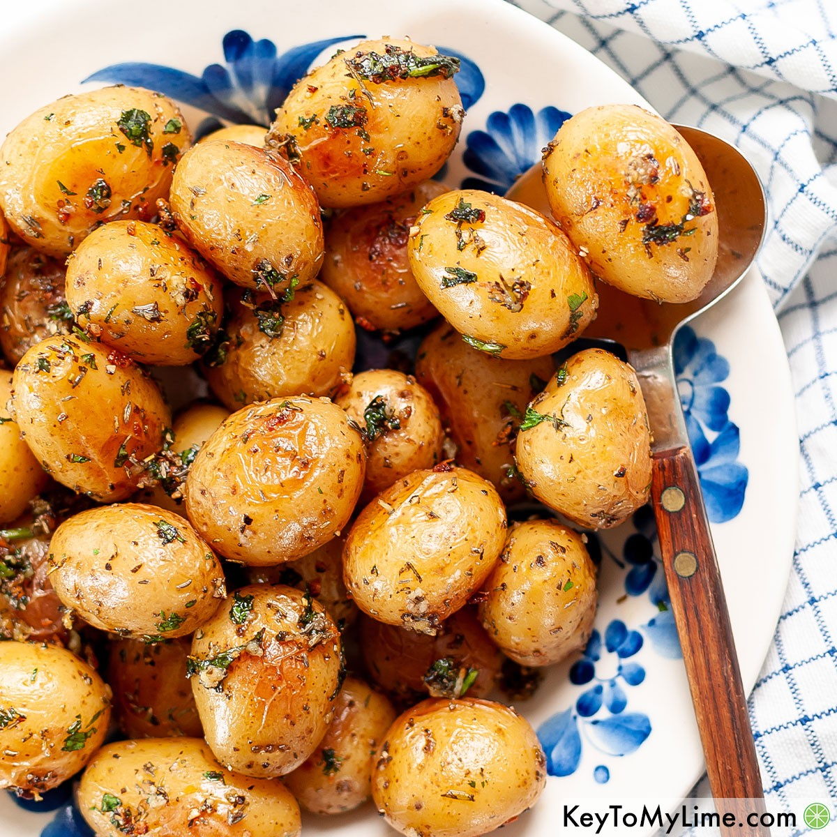 The best oven roasted baby potatoes recipe.