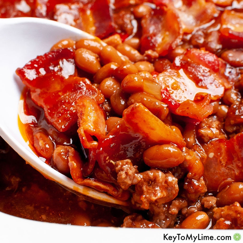 The best baked beans with ground beef recipe.