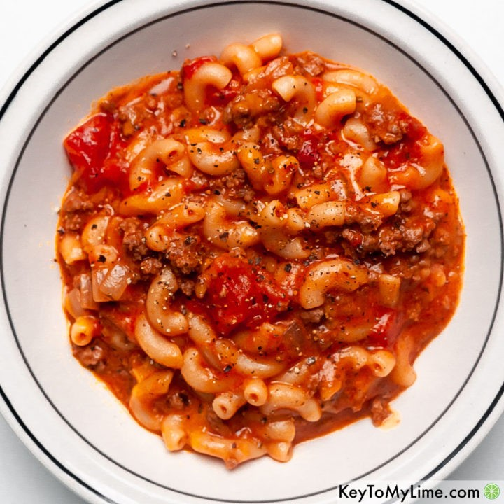 The best old fashioned goulash recipe.